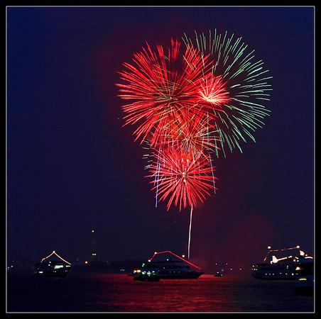 4th of July Fireworks - Battery Park - New York City, New York