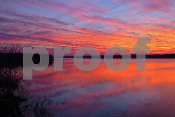 Feb 17, 2014 Sunset at Jordan Lake