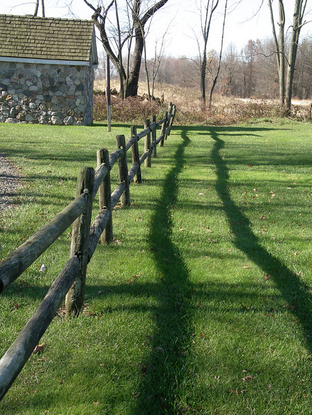 Posts, rails and shadows
