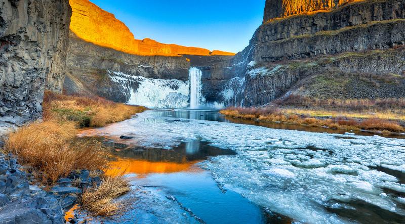 Palouse Falls, Winter Solstice 2011.  HDR. Nikon D3X, 14-24mm lens