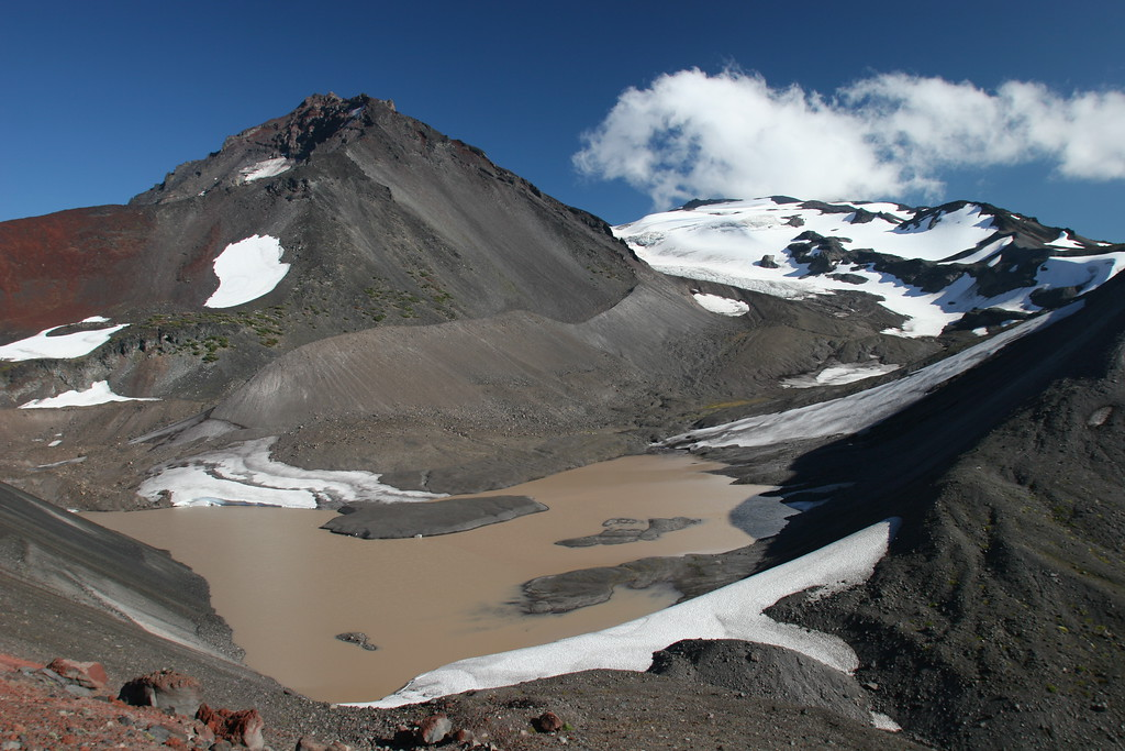 Collier glacier and North Sister