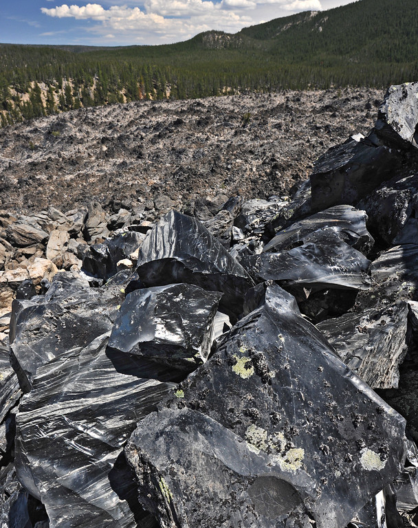 Obsidian, Newberry Volcano