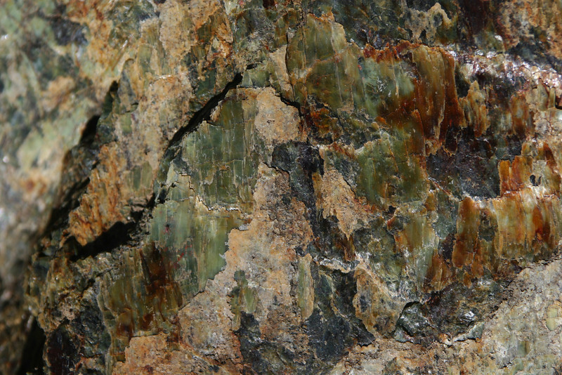 Serpentinite, with slickensides
