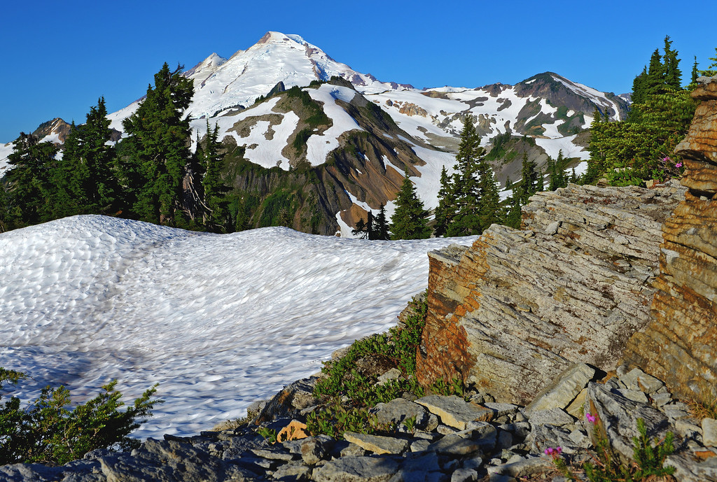 Mt. Baker and its andesite