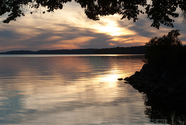 Green Lake at Sunset - Wisco
