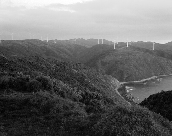From Makara WWII Gun Emplacements, looking across the local wind farm