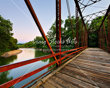 The Old Bridge over the Mackinaw River in Central Illinois.