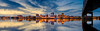 Downtown Peoria, Illinois reflecting in the Illinois River.