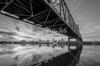 Under the Bridge - Peoria, Illinois skyline.