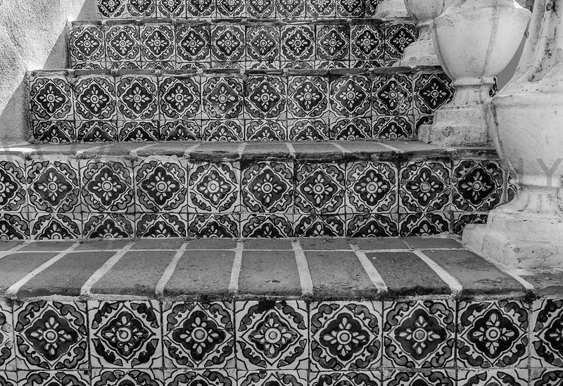 Tiled Stairway, Sedona, Arizona - monochrome