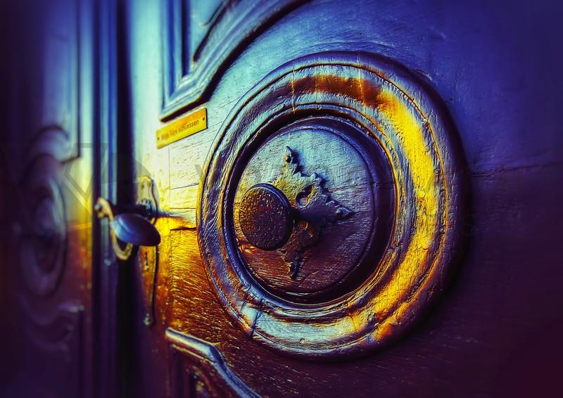 Church Door at Sunset, Hornbach, Germany