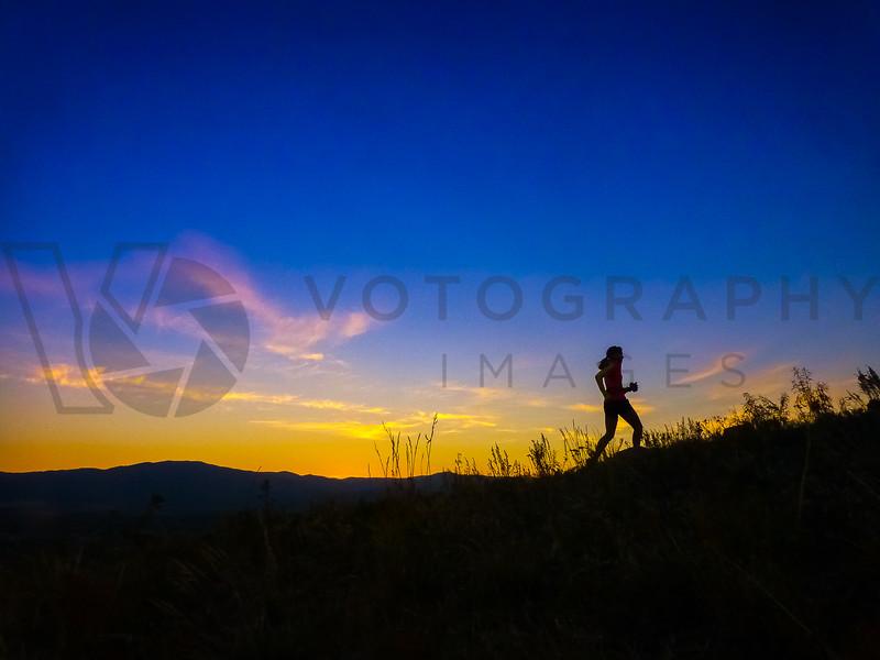 Trail Running At Sunset, Missoula, Montana