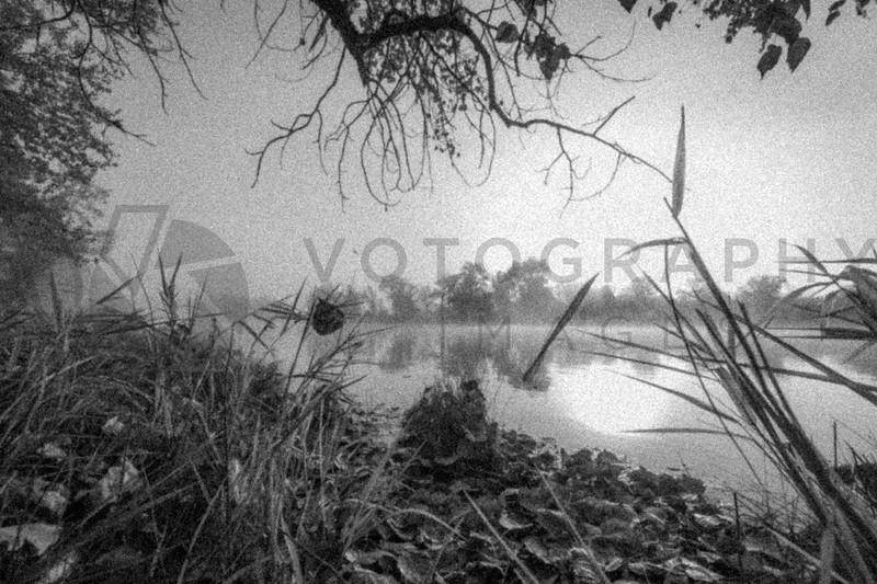 Fog over the Bitterroot River, Missoula, Montana - Fine Art - Monochrome