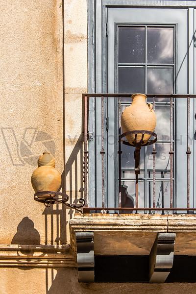 Pottery on Balcony, Sedona, Arizona