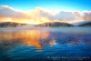 Foggy Lake Sunrise