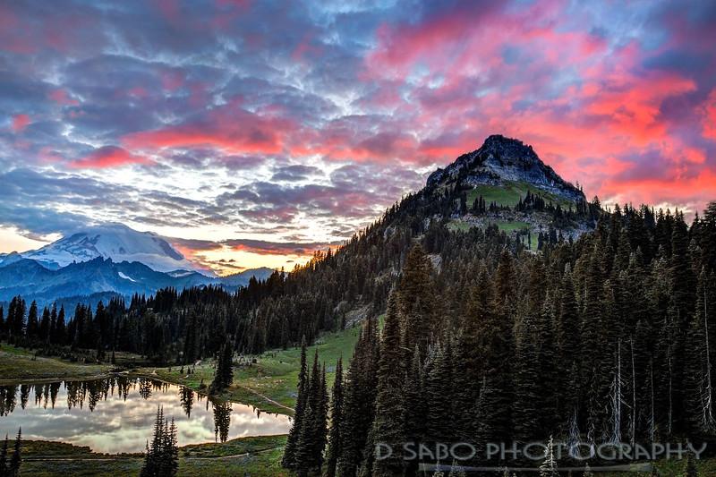 Mount Rainier Tipsoo Lake Sunset