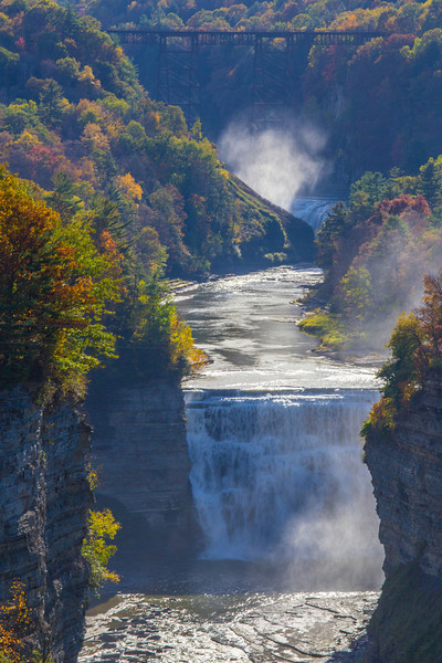 upper and middle falls, letchworth state park