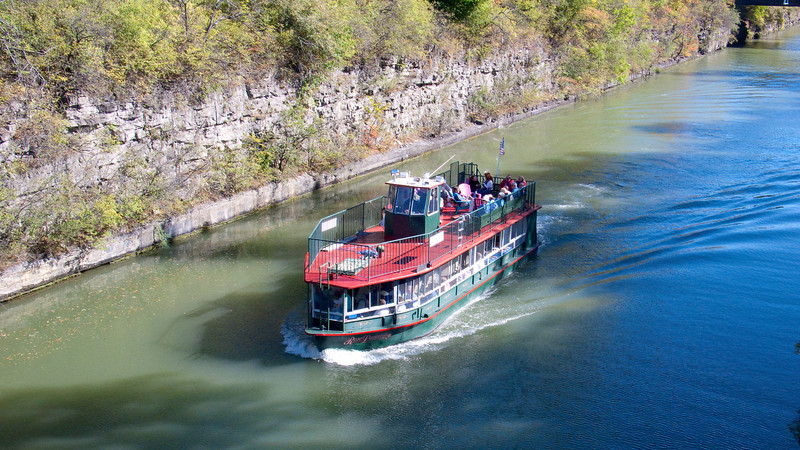 Rose Lumis on the Erie Canal approaching Buffalo Road bridge.