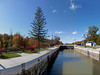 Panorama of Inside Lock 32 on the Colonial Belle.