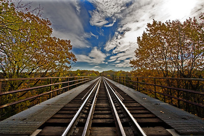 train tracks over the trestle Finger lakes