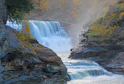 October 31, 2007 Lower falls Letchworth State Park Finger lakes