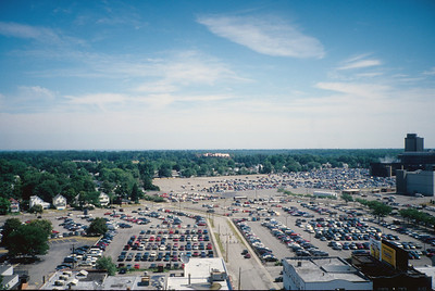 Not a great photo but old image taken from Bld 69 or Photographic Technology Building now torn down.  Shows Eastman Ave Parking lot.