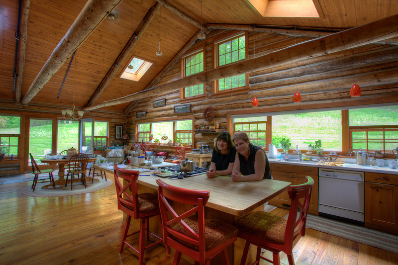 This is an HDR image of the kitchen at Chalet