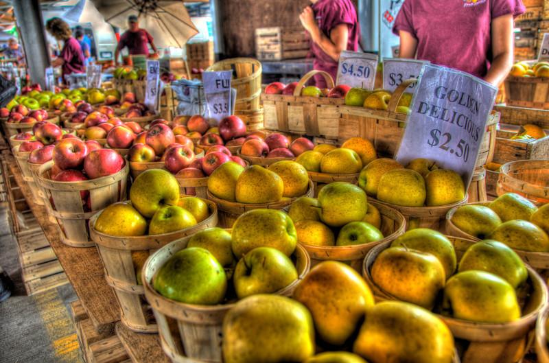 Public Market apples HDR