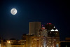 Super Full Moon over Rochester. March 19, 2011