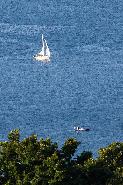 Activity on the Keuka Lake water using 700mm lens.