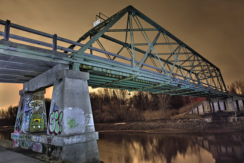 Gillette Bridge Light Painted.