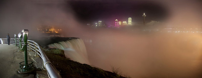 March 17,2012. Niagara falls panorama
