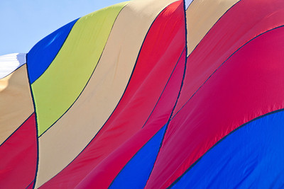 Balloon Festival, Letchworth State Park 2009; Filling Ballons with air
