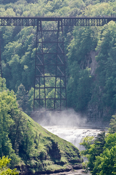 Letchworth State Park, Train trestle.  Image was exposed with Canon 500mm lens