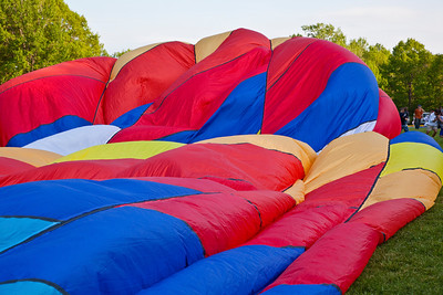 Balloon Festival, Letchworth State Park 2009; Filling Ballons with air; Flame II