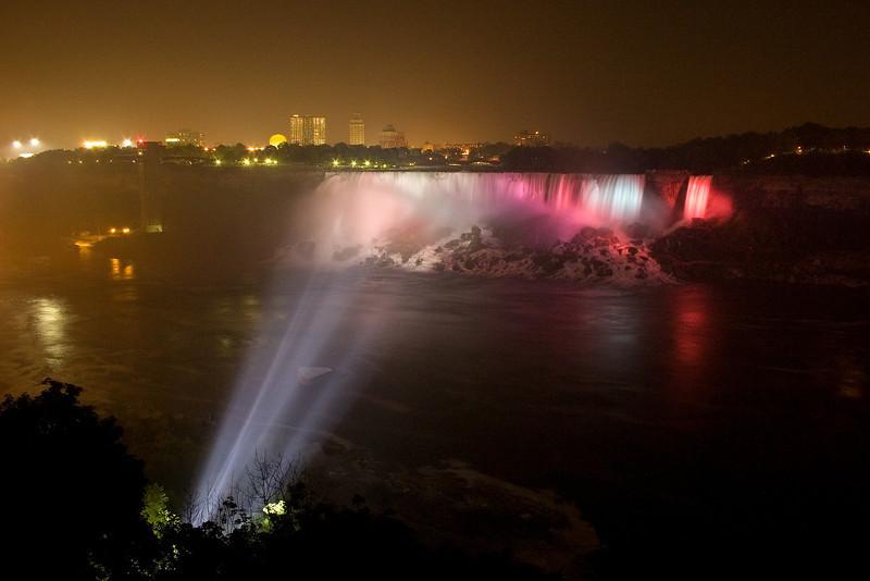 American Falls at night, Niagara falls