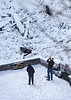 Taughannock Falls Jan. 19.2013, People standing on lower level w 500mm lens