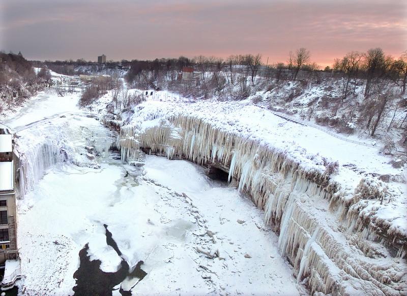 Frozen Lower Falls - Genesee River