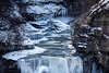 Taughannock Falls Jan. 19.2013.  Above falls w 500 mm lens