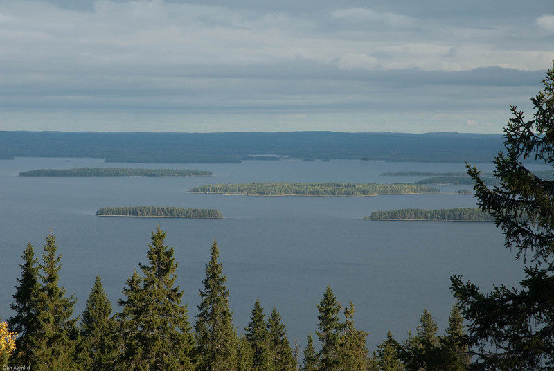 Forest and lakes landscapes, Eastern Finland, September 2009