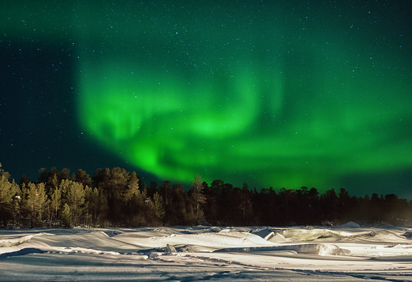 Northern Lights in Inari, Finland