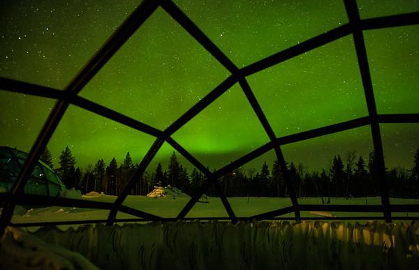 Glass Igloos in Kakslauttanen, Finland