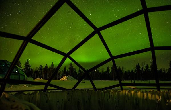 Glass Igloos in Kakslauttanen, Finland