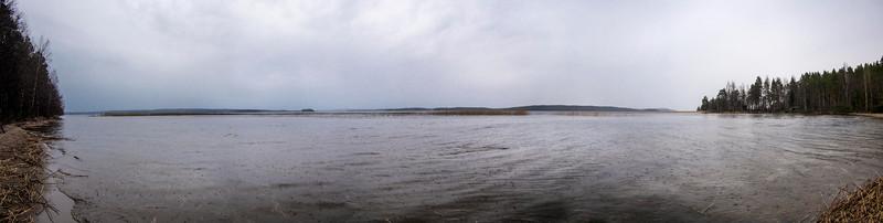 Päijänne National Park in the rain