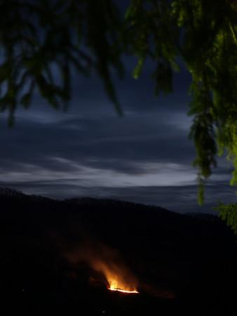 Fire on Powell Mountain