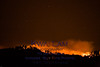 Night time view of Basin Complex Fire from upper Carmel Valley