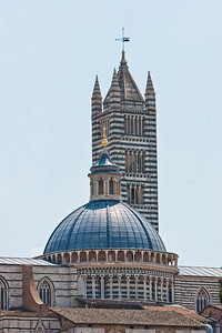 The Duomo and bell tower of Siena.