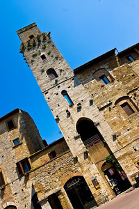 One of the large towers in San Gimignano.
