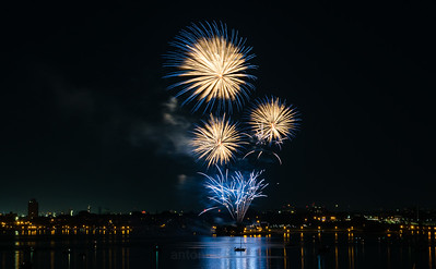 Bayfront Park, Hamilton. July 1st Fireworks.