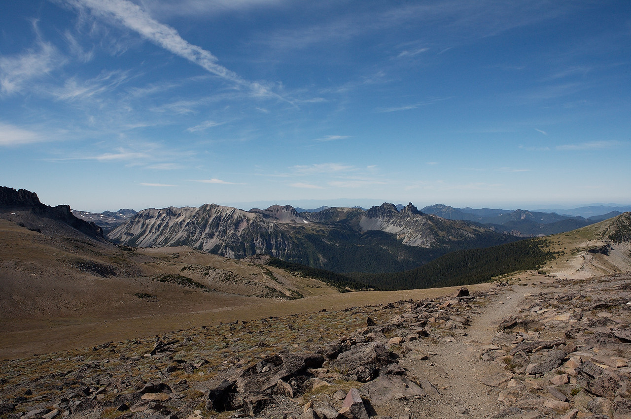 Looking northwest from Second Burroughs Mountain.
